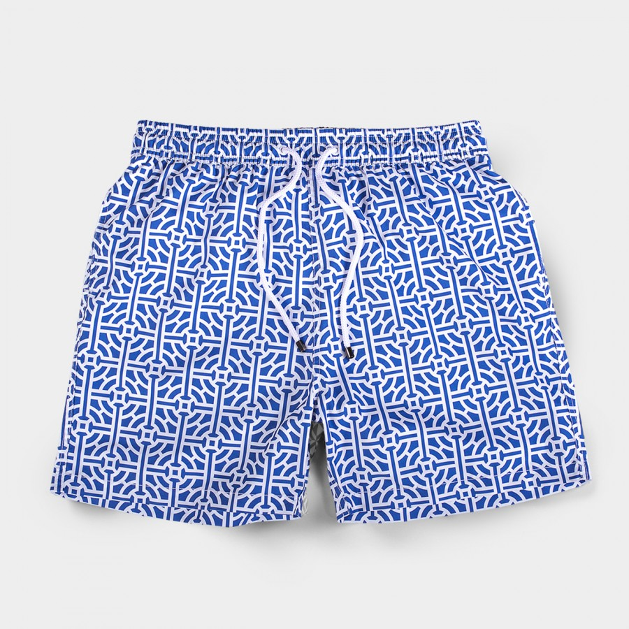 Blue Tile Board Shorts