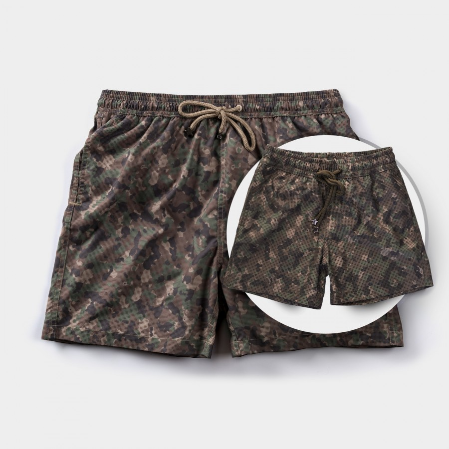 Father & Son Camouflage Board shorts
